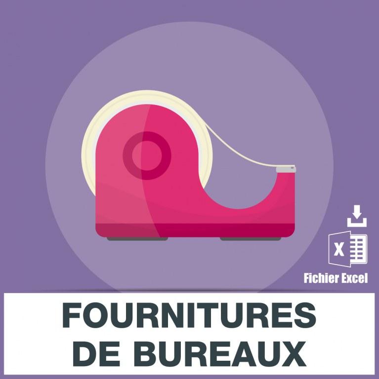 adresses e mails des fournitures de bureaux et de papeteries fichiers de. Black Bedroom Furniture Sets. Home Design Ideas