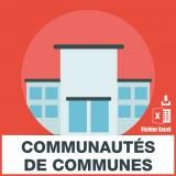 Emails de communautés de communes