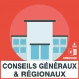 Adresses emails conseils généraux conseils régionaux