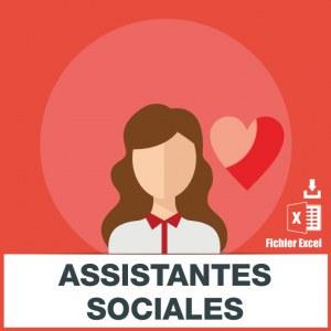 Adresses emails assistantes sociales