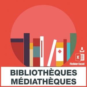 Adresses emails bibliothèques médiathèques
