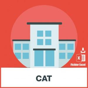 Base d'adresses emails des CAT établissements de travail protégé pour personnes handicapées