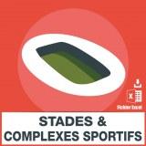 Base d'adresses emails des stades et complexes sportifs