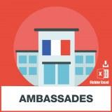 Base adresse emails des ambassades