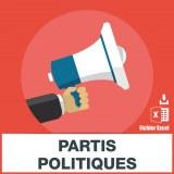Adresses emails partis politiques