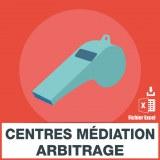 E-mails tribunaux centres médiation arbitrage