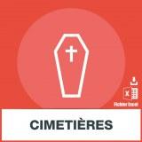 Base adresses e-mails cimetières