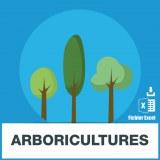 Base adresse emails arboriculture