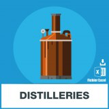 Adresses e-mails distilleries