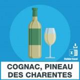 E-mails cognac pineau des charentes