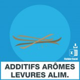 E-mails additifs aromes levures alimentaires