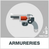 Base adresses emails armureries