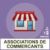 Adresses emails associations commerçants