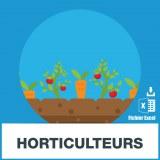 Base adresses emails horticulteurs