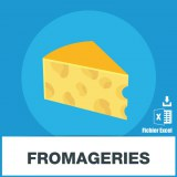 Emails des fromageries