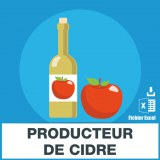 Adresses emails production de cidre