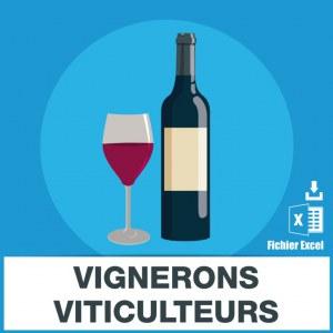 Adresses emails vignerons viticulteurs