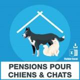 Emails des pensions pour chiens et chats