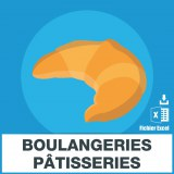 Adresses emails boulangeries patisseries