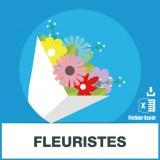 Base d'adresses emails des fleuristes