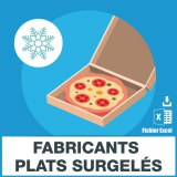 Emails fabriquants de plats surgelés