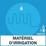 Adresses emails matériel d'irrigation