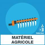 Adresses emails matériel agricole