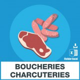 Adresses emails boucheries charcuteries