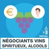 Emails négociants en gros de vins spiritueux et alcools