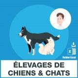Adresses e-mails des élevages chiens et chats
