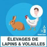 Emails élevages volailles et lapins