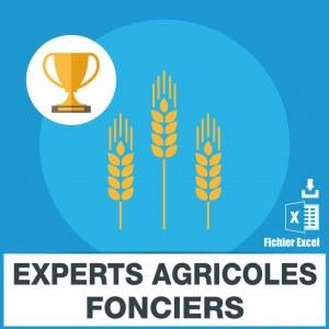 Emails des experts agricoles fonciers