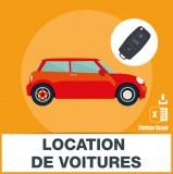 Adresses emails location de voitures et d'automobiles