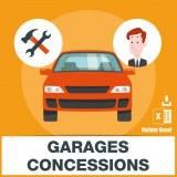 E-mails concessionnaires automobiles