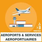 Base d'adresses emails des aéroports et services aéroportuaires