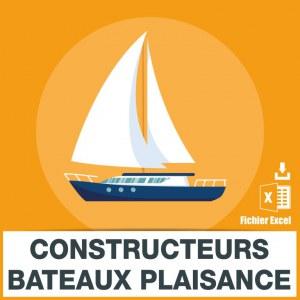 Emails constructeurs bateaux plaisance
