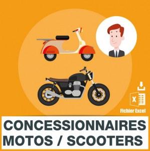 Emails garages motos et scooters