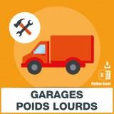 Emails des garages poids lourds