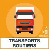 Adresses emails de transports routiers