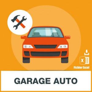 E-mails de garages automobiles