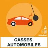 Adresse e-mail casses automobiles