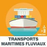 E-mails transports maritimes fluviaux