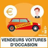 Emails vendeurs de voitures d'occasion