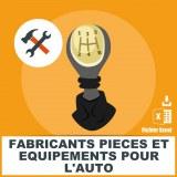 E-mails équipements pièces automobile