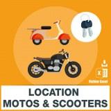 Emails location motos et de scooters