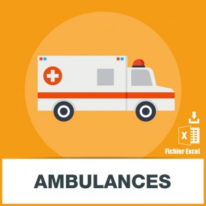 Base adresses emails ambulance