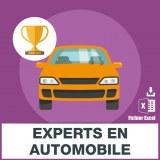 Emails des experts en automobiles