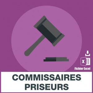 Adresses e-mails commissaires-priseurs