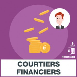 Adresses e-mails courtier financier