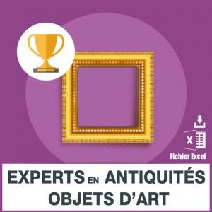 Emails experts en antiquités objets art